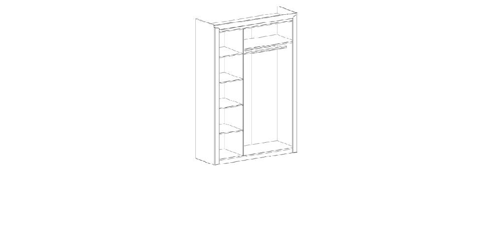 Соренто спальня шкаф 3 дверный
