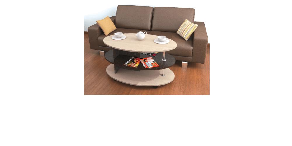 Журнальный стол Консул-4 дуб молочный/венге
