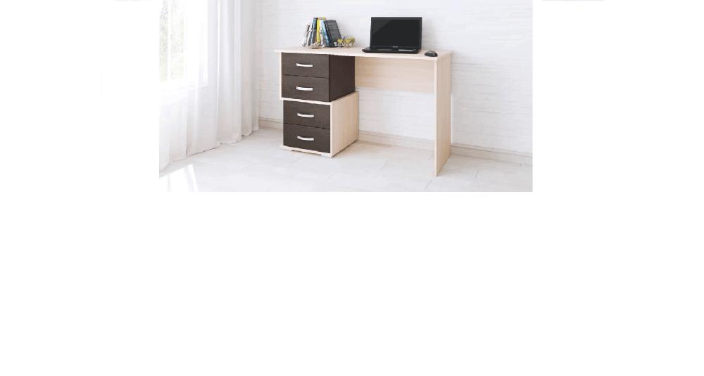 Письменный стол Сити-2 дуб молочный/венге
