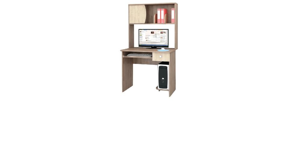 Компьютерный стол Грета-4 ясень шимо/дуб сонома