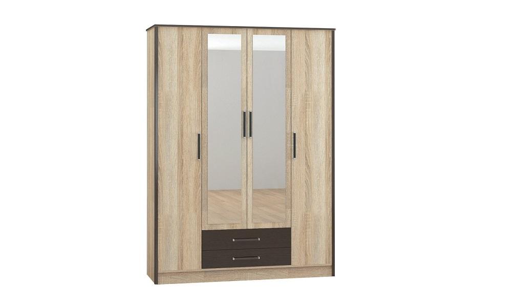 Спальня Лирика шкаф 4-х ств. дуб сонома