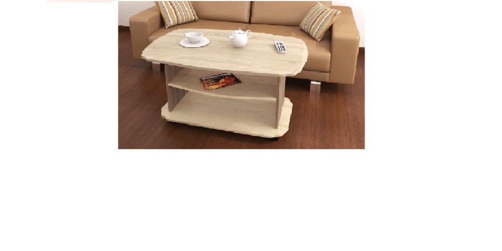 Журнальный стол Консул-2 дуб сонома/ясень шимо