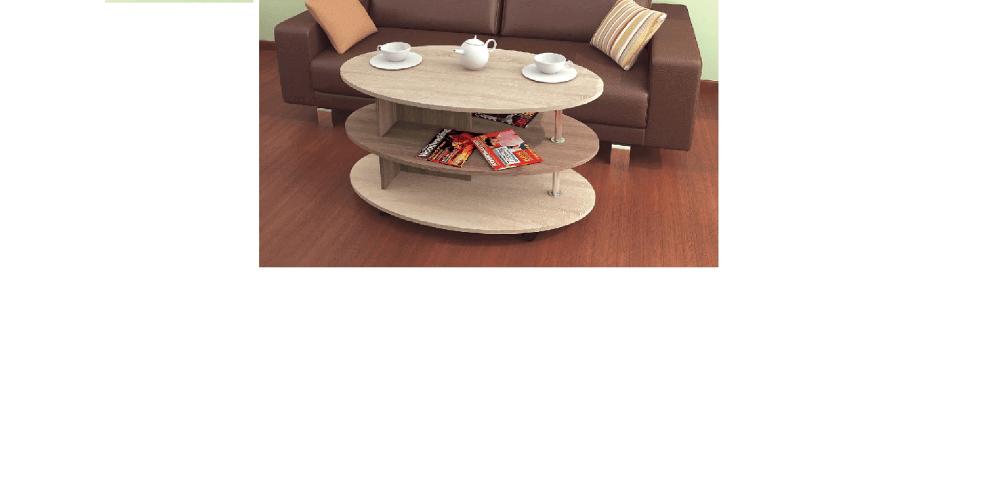 Журнальный стол Консул-4 дуб сонома/ясень шимо