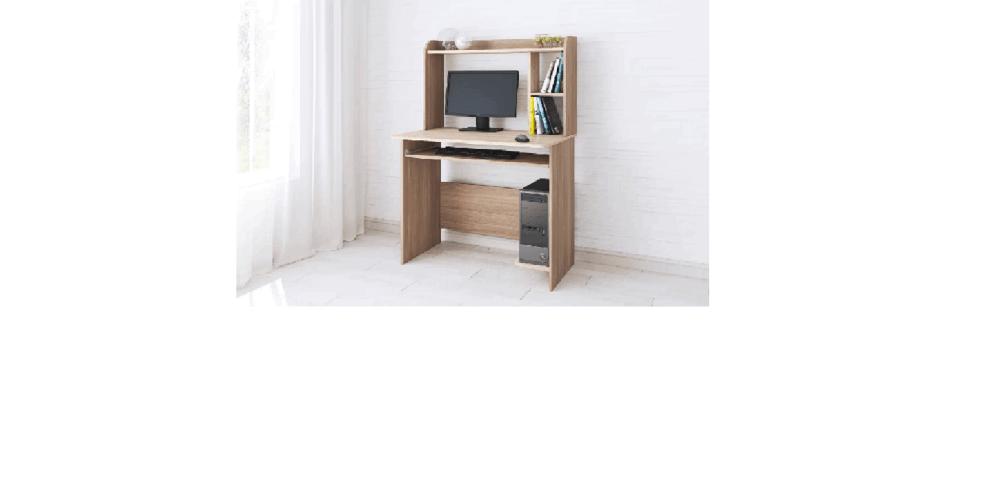 Компьютерный стол Грета-2 ясень шимо/дуб сонома