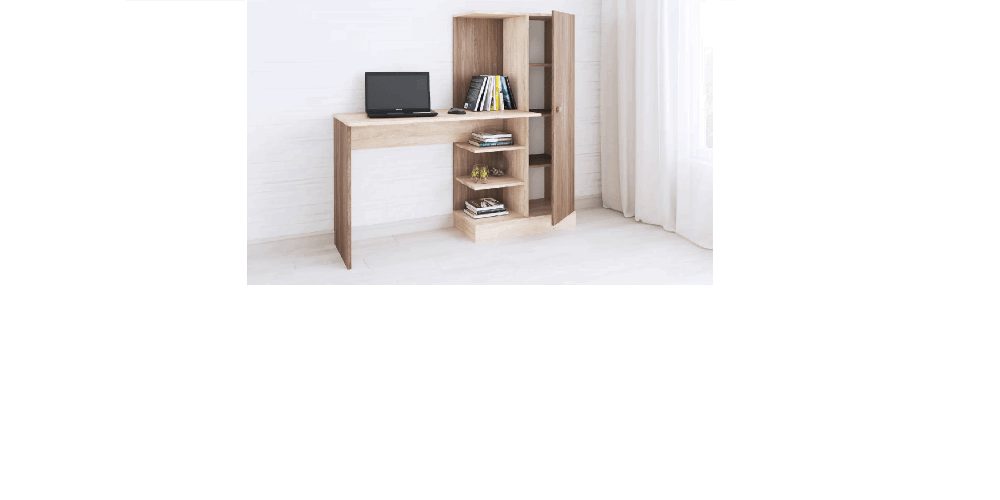 Компьютерный стол Квартет-6 ясень шимо/дуб сонома