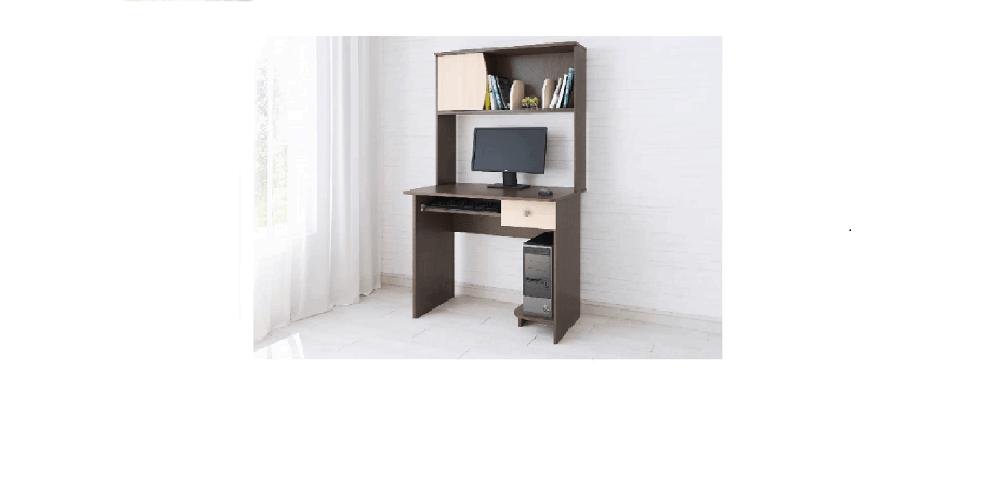 Компьютерный стол Грета-4 венге/дуб молочный